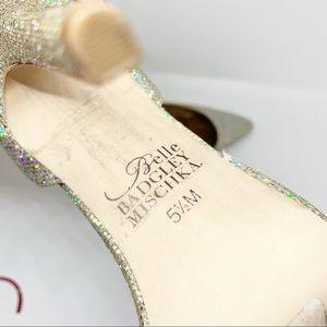 Badgley Mischka Shoes - GUC - Badgley Mischka - Silver Sparkly Heels - 5.5